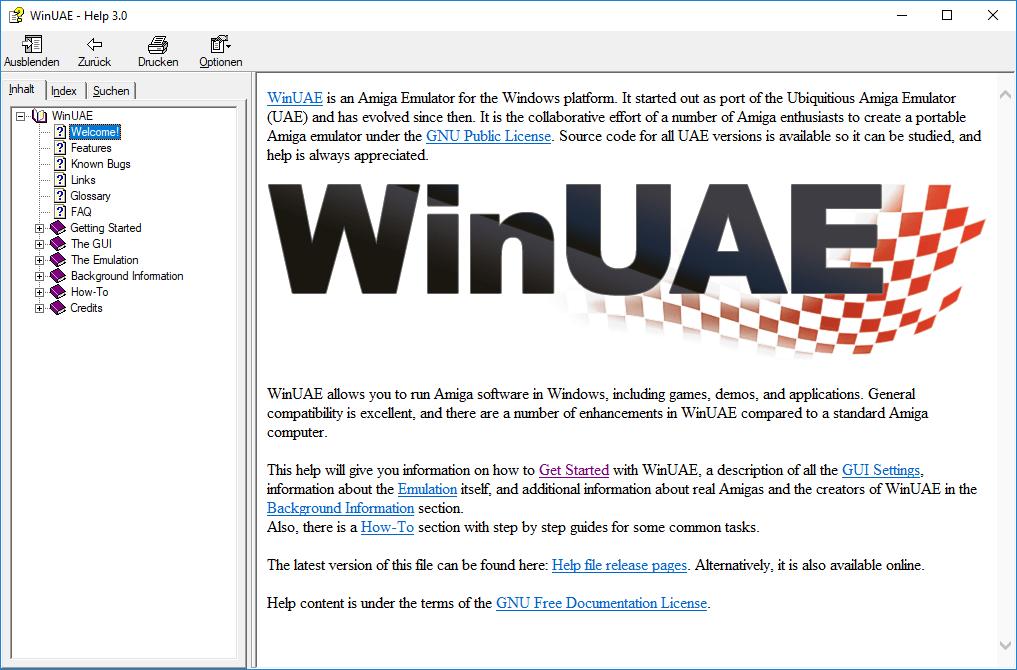 WinUAE Help